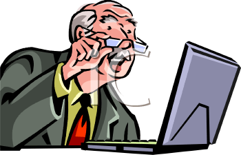 Image result for old man checking email