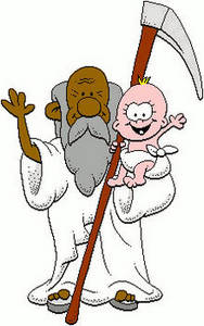 Free Clipart Picture of Father Time and the New Year Baby. Click Here to Get Free Images at Clipart Guide.com