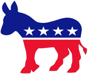 Free Political Clipart Image of the Democratic Party's Donkey