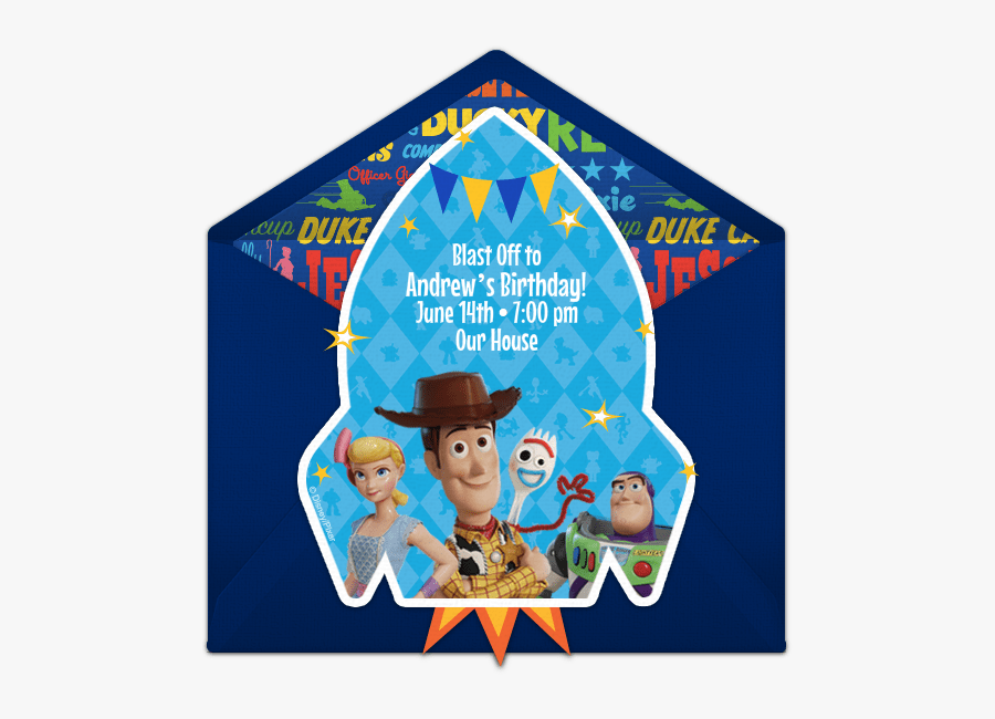 toy story 4 free invitation template