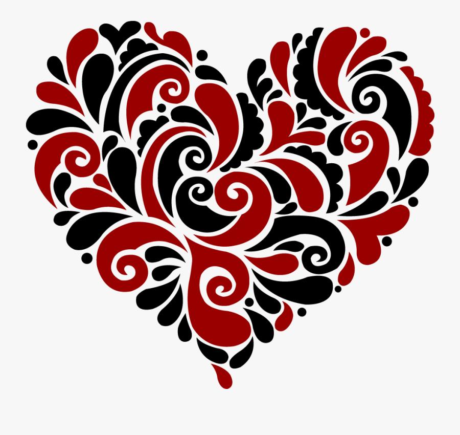 Download Heart Swirl Cliparts - Heart Mandala Svg Free , Free ...