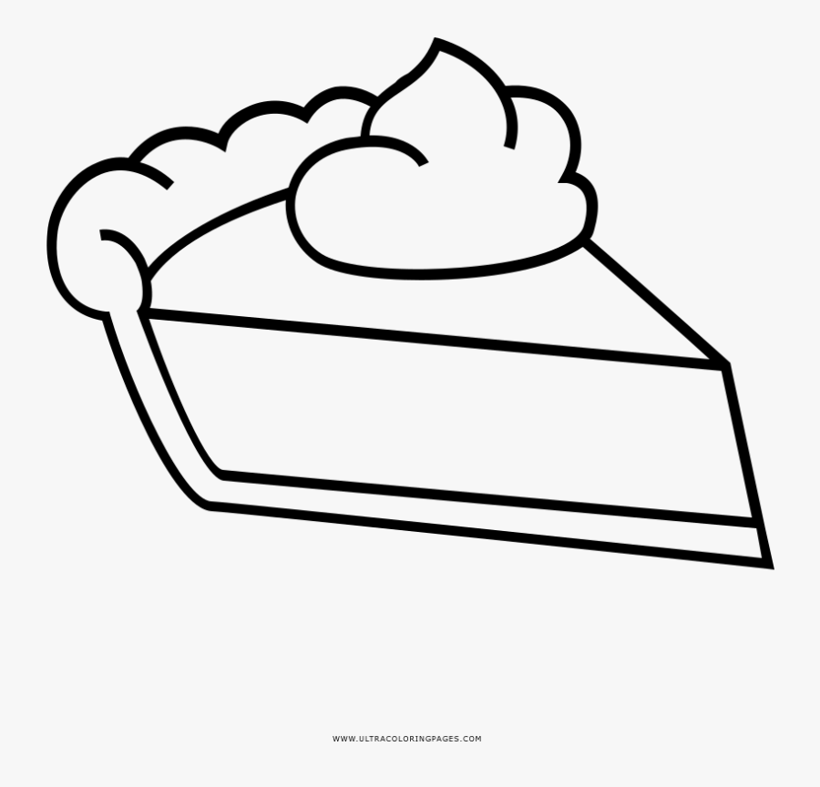 Pie Slice Coloring Page Slice Of Pie Outline Free Transparent Clipart Clipartkey