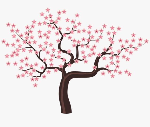 Tree With Flowers Png Clipart Image Gambar Bunga Sakura Kartun