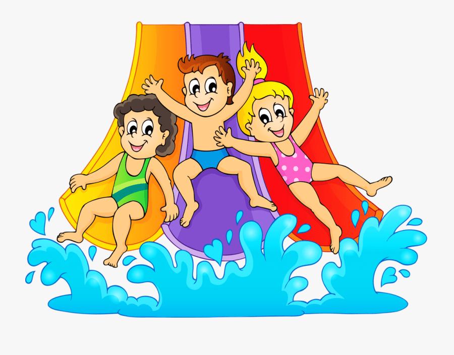 water slide birthday party blank