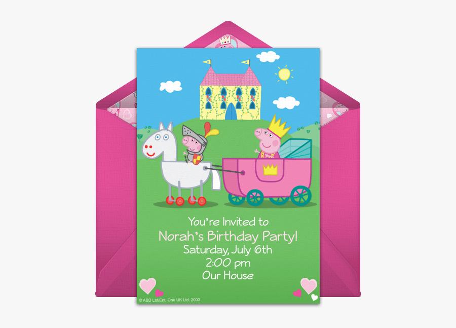 blank peppa pig invitations free