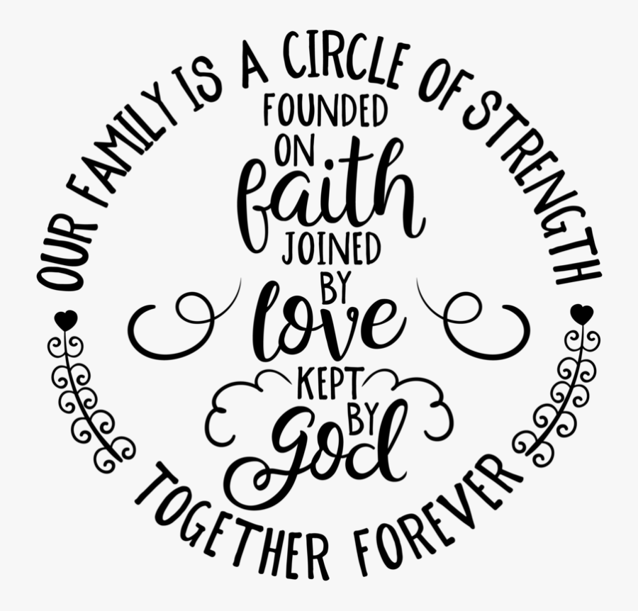 Download Our Family Is A Circle Of Strength Svg , Free Transparent ...