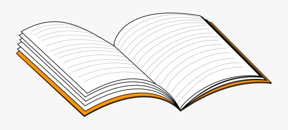 Transparent Notepad Clipart Open Notebook Clip Art Free Transparent Clipart Clipartkey