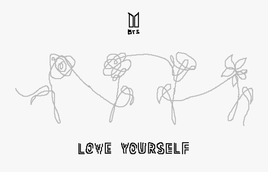 Download Transparent Flower Sketch Png - Bts Love Yourself Flowers ...