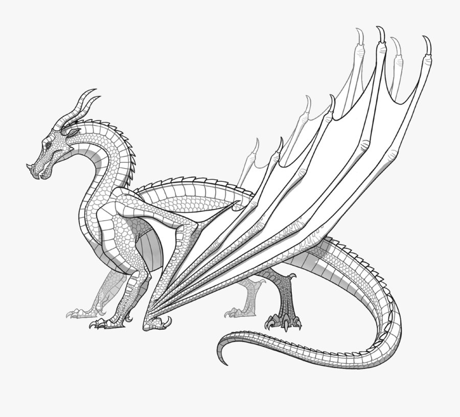 Realistic Dragon Coloring Pages Free Transparent Clipart Clipartkey