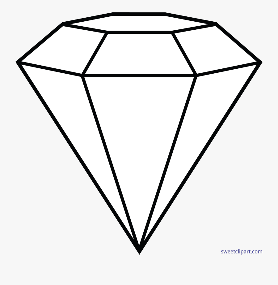 Diamond Lineart Clip Art Coloring Pages Of Diamonds Free Transparent Clipart Clipartkey