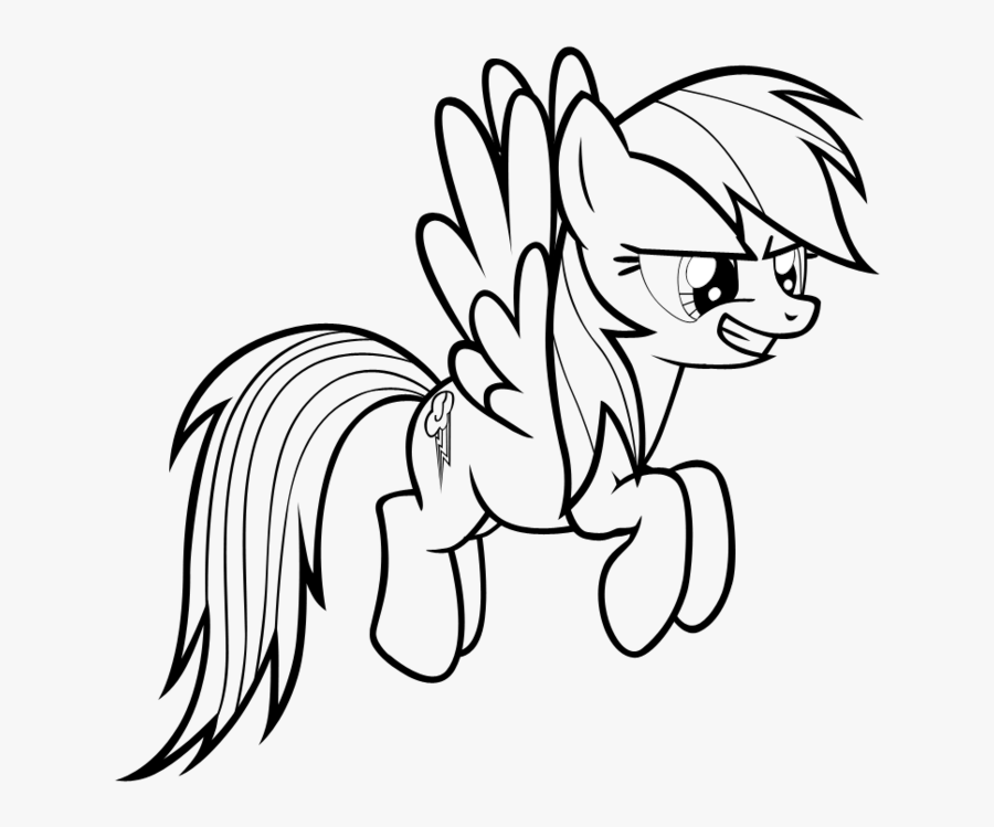 My Little Pony Coloring Pages Full Pony Rainbowdash Coloring Pages Free Transparent Clipart Clipartkey