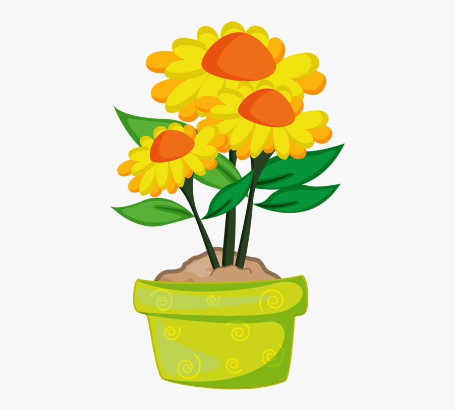 Transparent Flower Plants Png Flower Pot Clipart Png Free Transparent Clipart Clipartkey