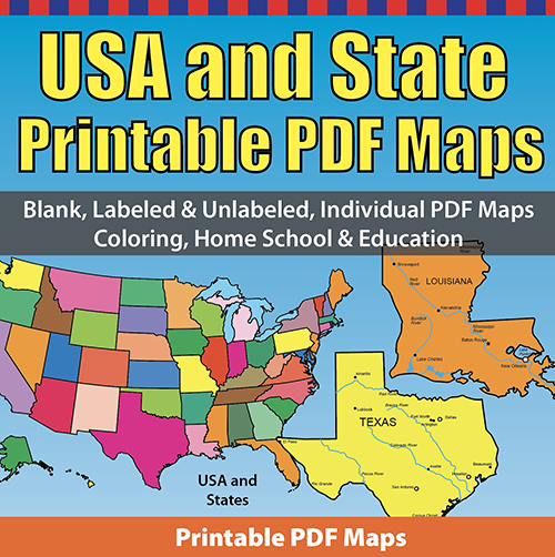 Additionally, tourists like to check out the claims because there are fascinating items to get in this brilliant nation. Usa States And Territories Printable Blank Pdf Maps Collection Clip Art Maps