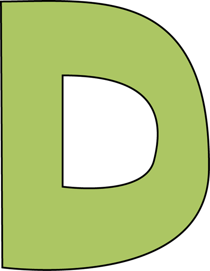 D Clipart Letter D Clipart 427x550 Png Clipart Download