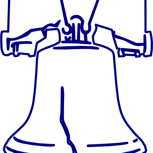Liberty Bell Coloring Page - (12x12) Png Clipart Download