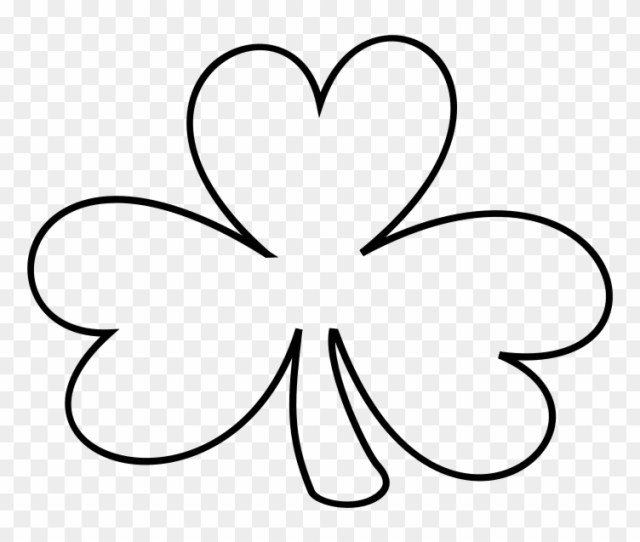 Free To Use Public Domain Irish Clip Art Shamrock Black And White