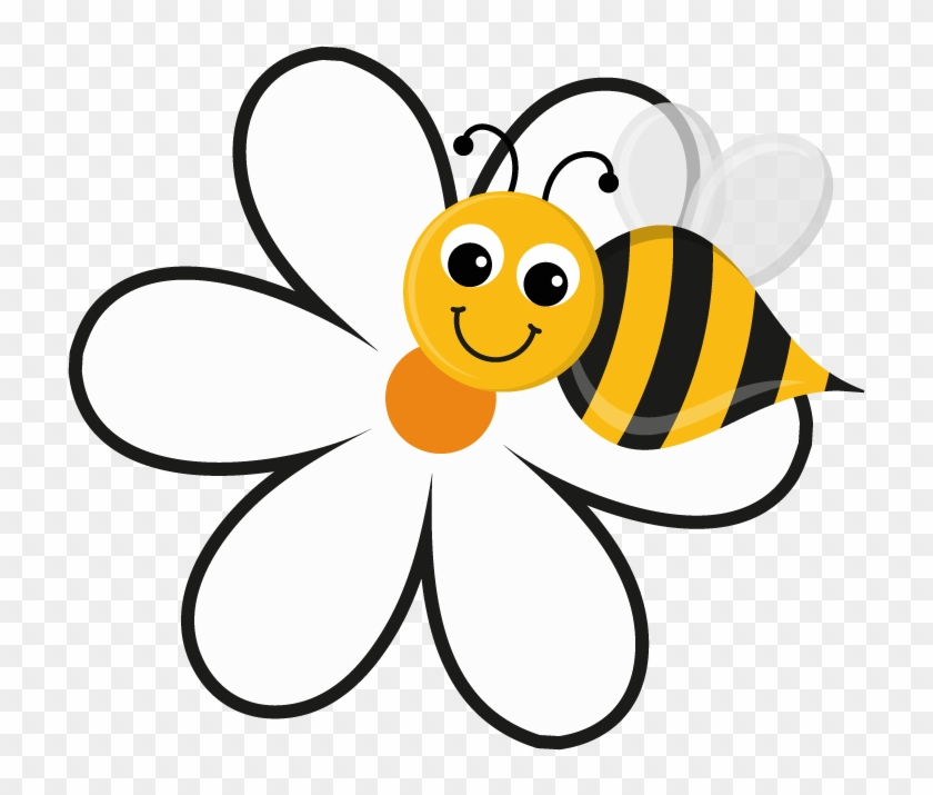 Free Bee And Flower Clipart Image 5149 Bee And Flower Cartoon Bee On A Flower Free Transparent Png Clipart Images Download