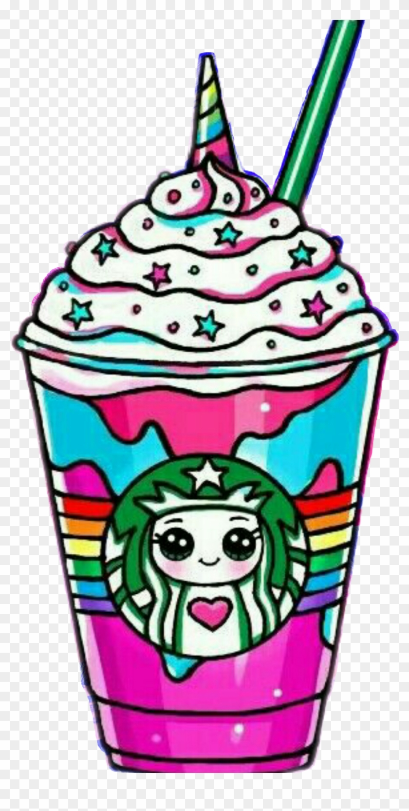 Starbucks Frappe Unicornio Unicorns 😍 Arcoiris 🌈 Draw So