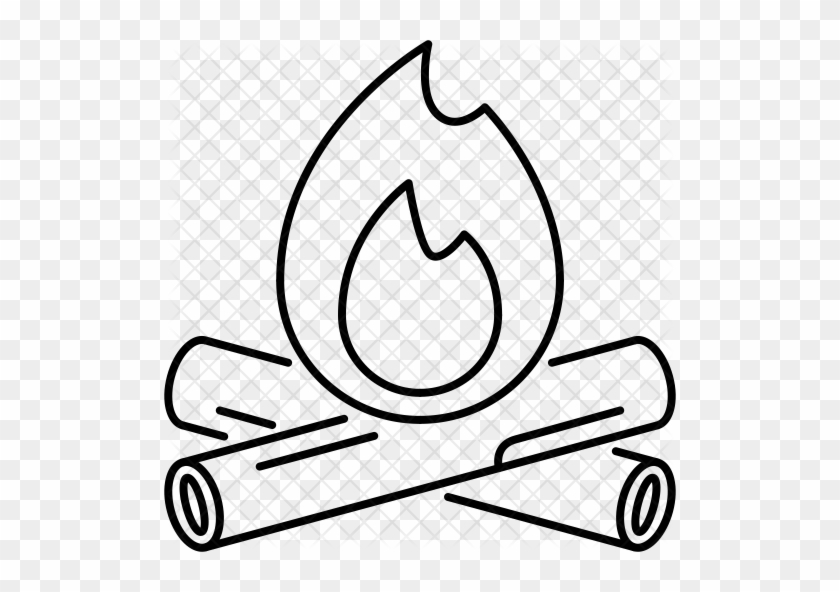 Firewood Icon Simple Drawing Of A Fire Free Transparent Png Clipart Images Download