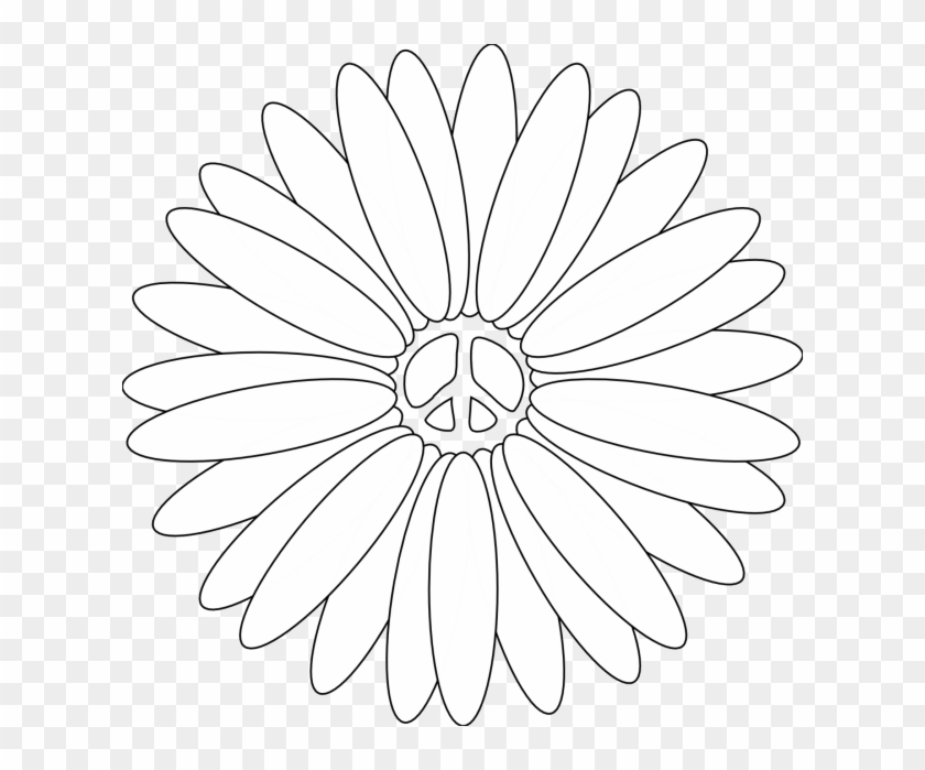 Adult Peace Coloring Pages For Kids And Adults Peacepeace Clipart Flower On White Free Transparent Png Clipart Images Download
