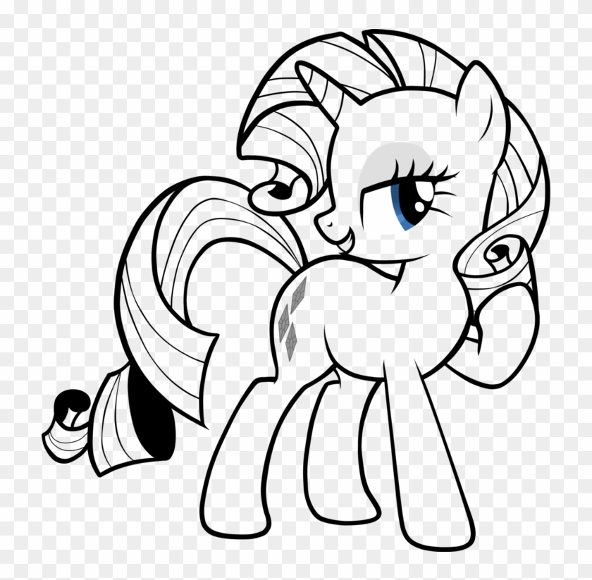 My Little Pony Black And White Rarity Download My Little Pony Drawing Rarity Free Transparent Png Clipart Images Download