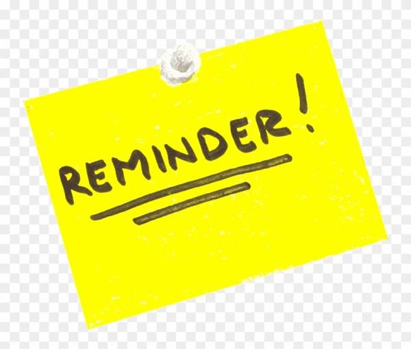Friendly Reminder Note Clipart - Reminder Clip Art - Free ...