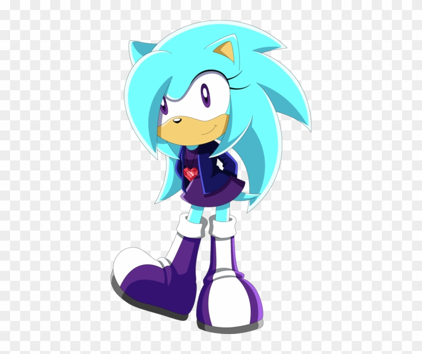 Aqua The Hedgehog By Noble Maiden Sonic Fan Made Characters Female Hedgehog Free Transparent Png Clipart Images Download