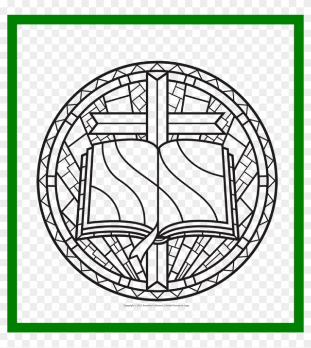 Printable Stained Glass Window Coloring Pages With - Rose Window