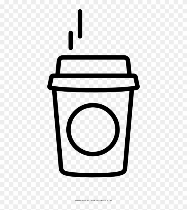 Small Coffee Coloring Page - Starbucks Coffee Coloring Page - Free