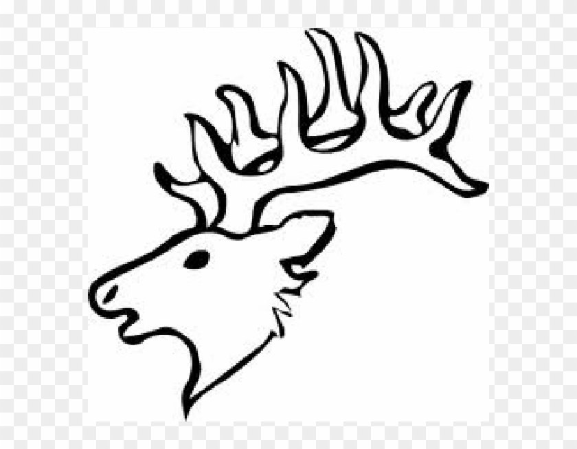 Deer Head For Scroll Saw Pattern Easy Elk Head Drawing Free Transparent Png Clipart Images Download