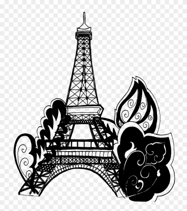 Free Eiffel Tower Clipart - Paris Eiffel Tower Coloring Pages