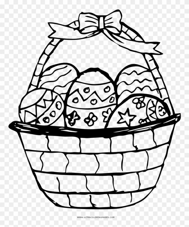 Easter Basket Coloring Page - Easter Basket Coloring Page - Free