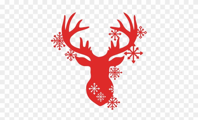 Download Snowflake Reindeer Svg Scrapbook Cut File Cute Clipart ...
