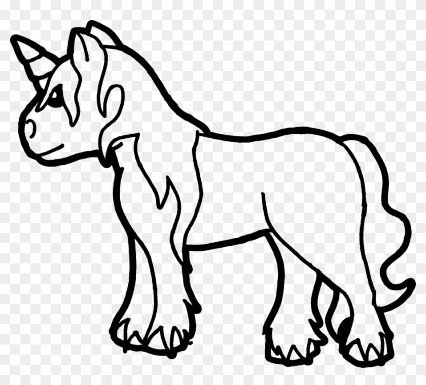 Unicorn Coloring Page By Sarrel On Deviantart Baby Unicorn Coloring Pages Free Transparent Png Clipart Images Download