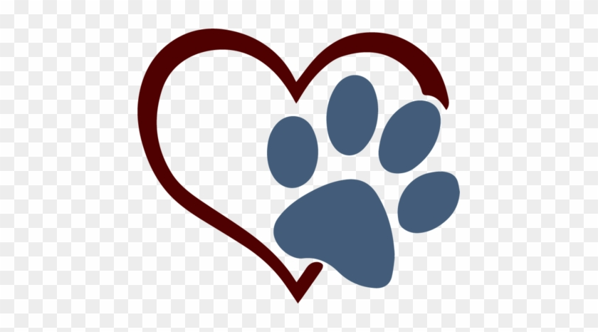 Download The Craft Chop - Paw Print Heart Svg - Free Transparent ...