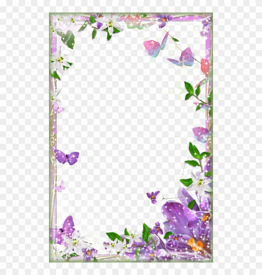 Page Border Designs For Projects With Flowers Flower Page Border Design Free Transparent Png Clipart Images Download