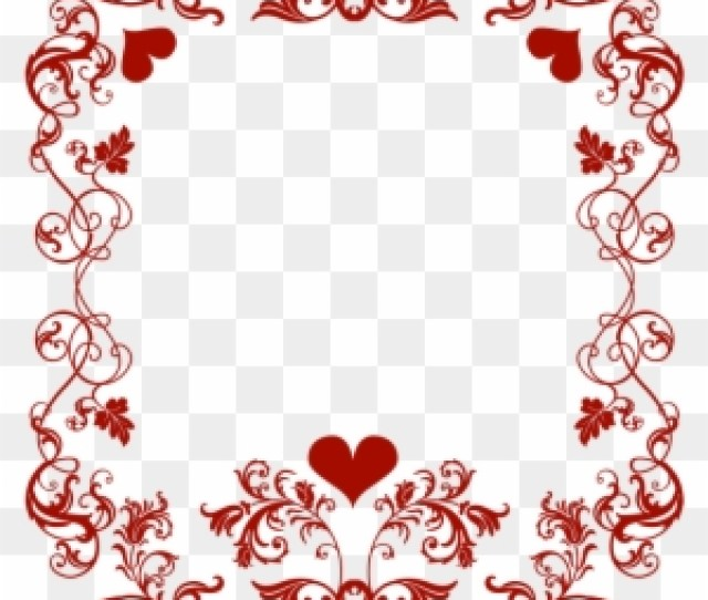 Pin Valentine Images Free Clip Art Valentines Day Border Png