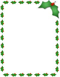 Christmas Page Borders.Christmas Page Border Clipart Merry Christmas And Happy