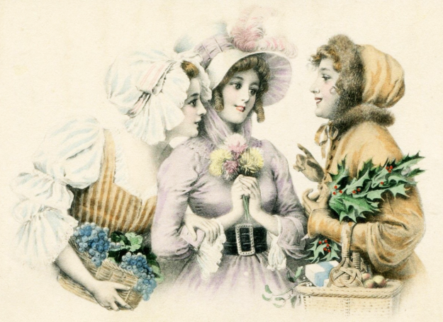 Three Lovely Ladies Clipart