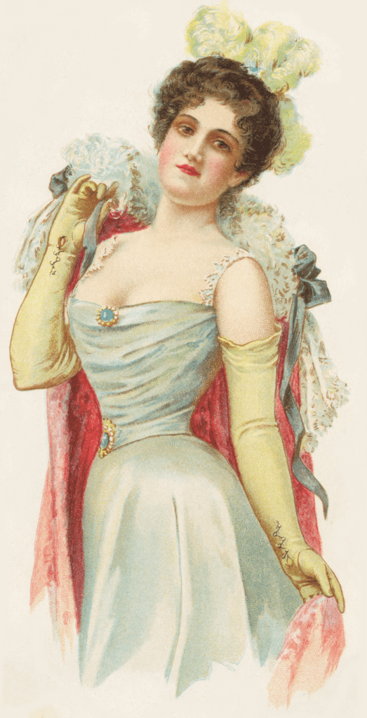 Free Victorian Lady Glove Ad Graphic
