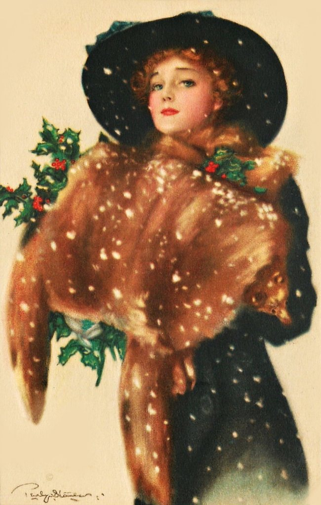 Lovely Christmas Lady Graphic clipartplace