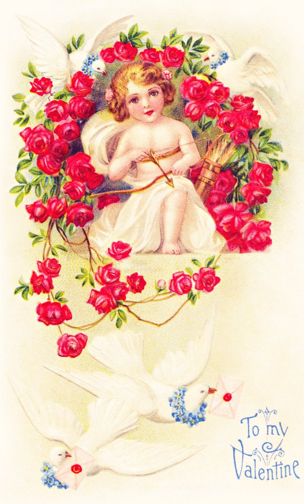 To My Valentine Cupid Graphic