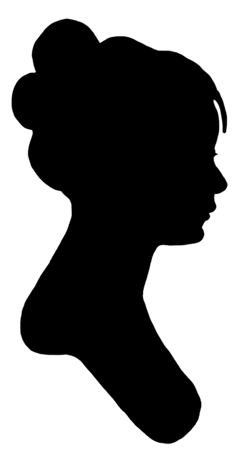 Painting Silhouette Girl Clip Art