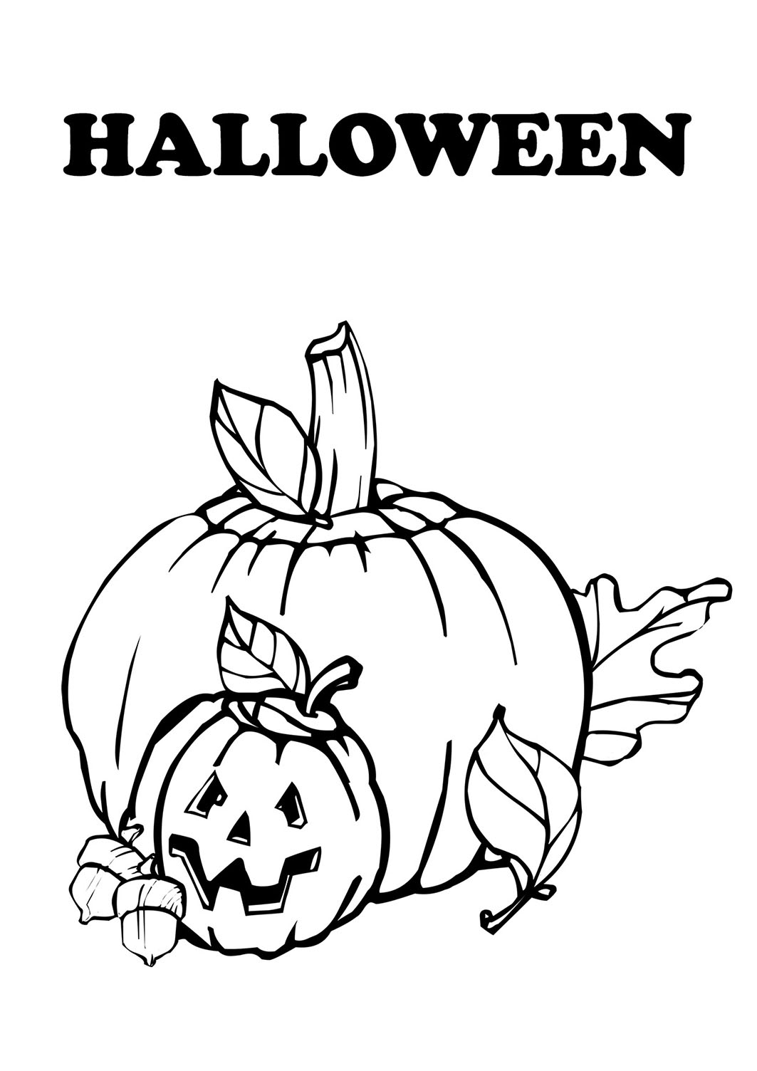 Halloween Clip Art Coloring Pages