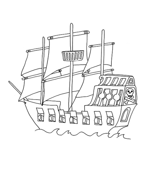 pirate ship coloring pages # 10