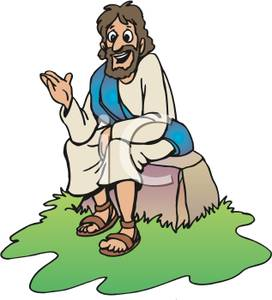 Image result for jesus talking clipart
