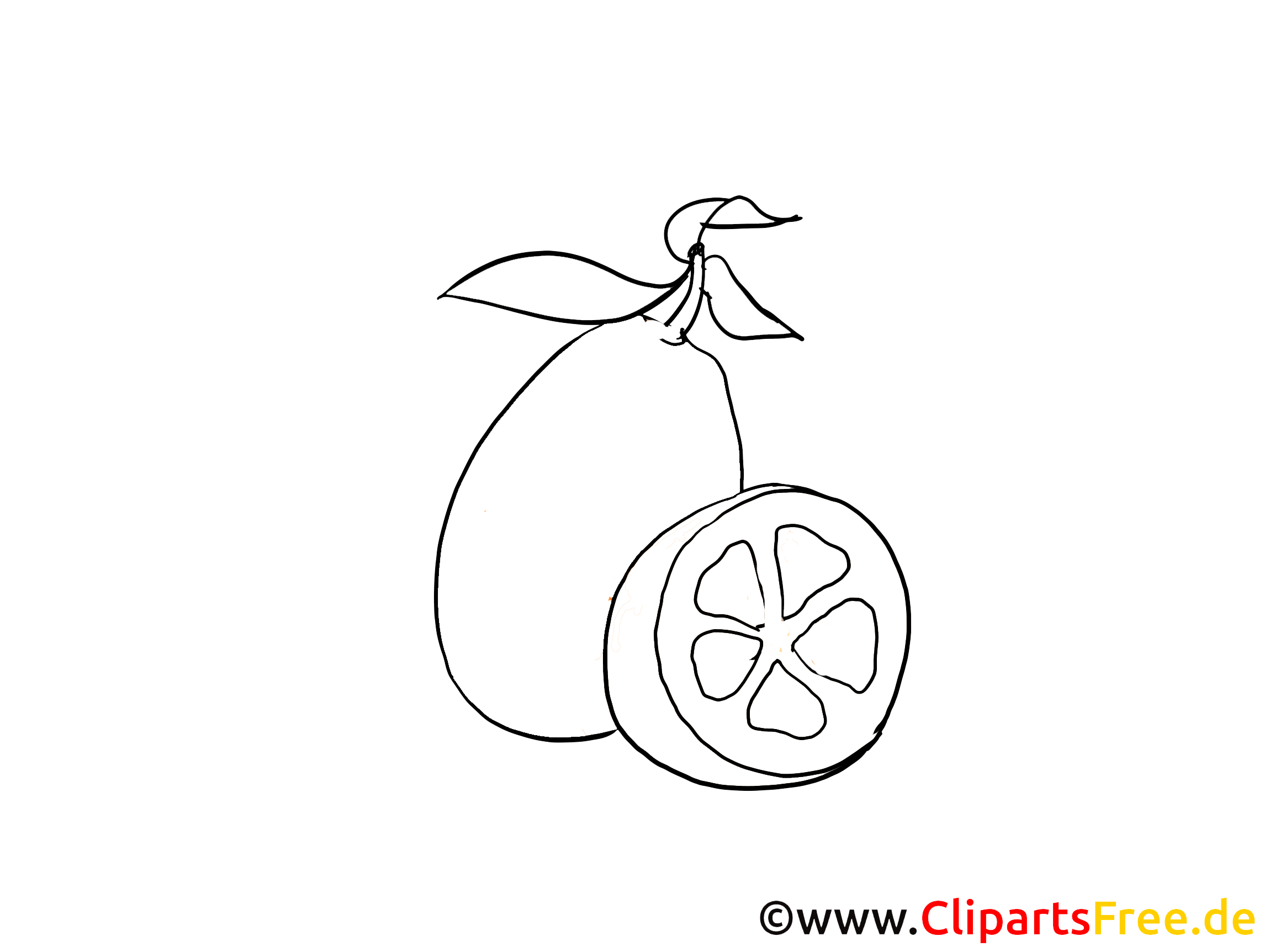 Clip Art Lemon Black And White