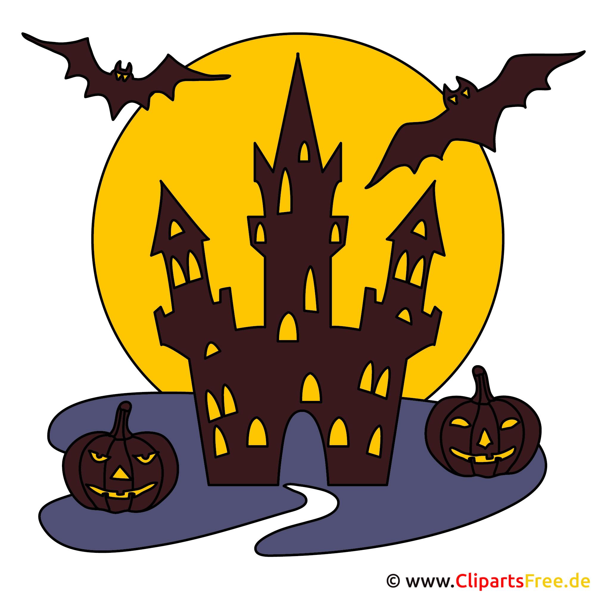 Burg Clipart Gif Zu Halloween