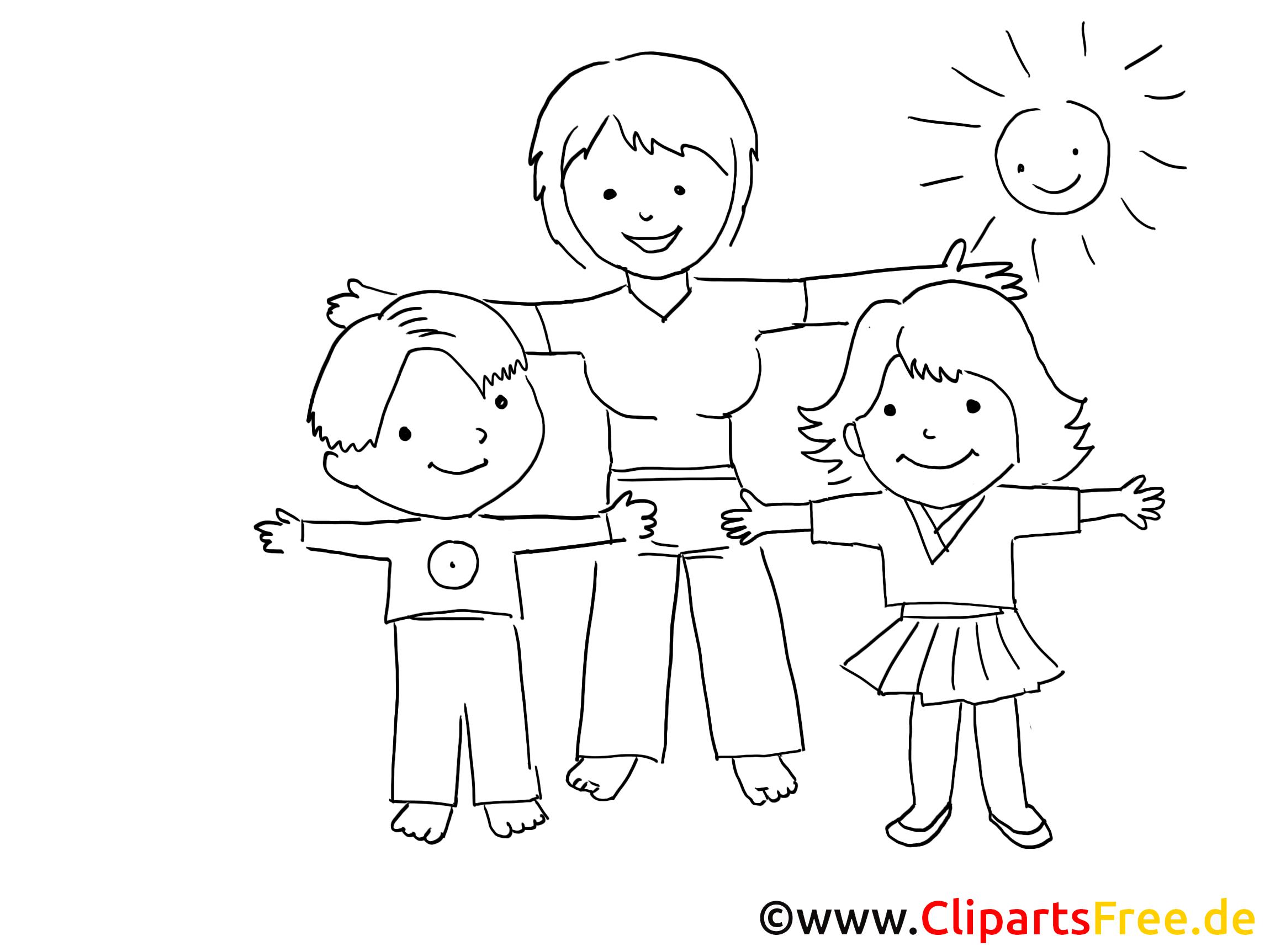 Sport Im Kindergarten Zeichnung Bild Schwarz Weiss