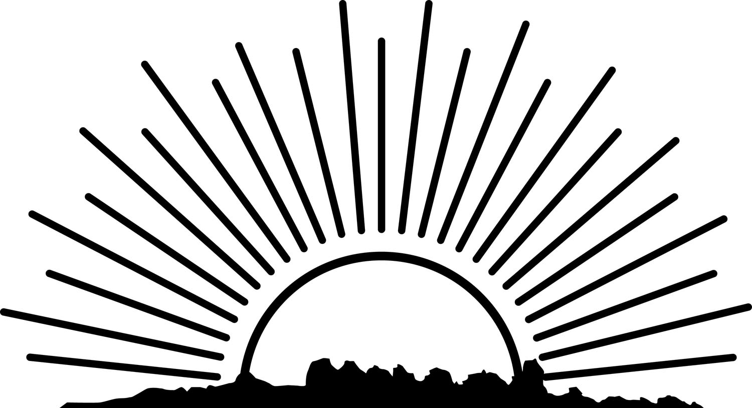 Sunrise Clipart Black And White 9 Clipart Station